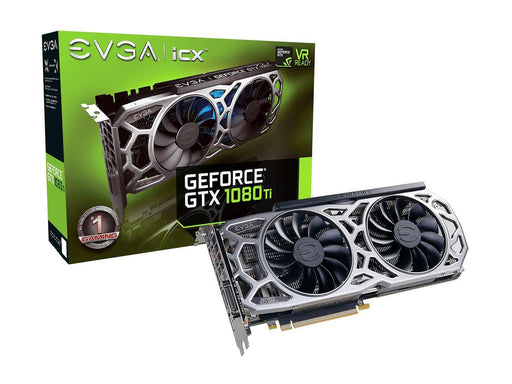 EVGA GeForce GTX 1080 Ti Graphic Card - 1.48 GHz Core - 1.58 GHz Boost Clock - 11 GB GDDR5X -  11GB GDDR5X COOLER & LED