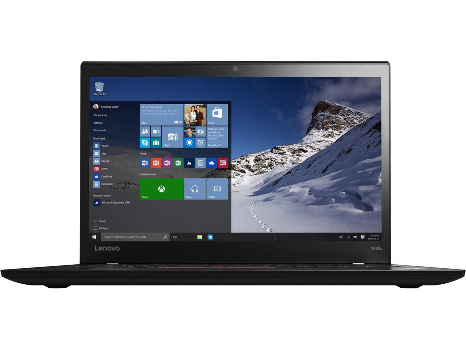"Will Ship 02/01/2018 Lenovo ThinkPad T460s 20F90038US 14"" 256GB SSD (In-plane Switching (IPS) Technology) Notebooks - Intel Core i5 (6th Gen) i5-6300U Dual-core (2 Core) 2.40 GHz - Black"