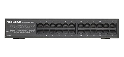 NETGEAR 24-Port Gigabit Ethernet Desktop/Rackmount Switch (GS324)