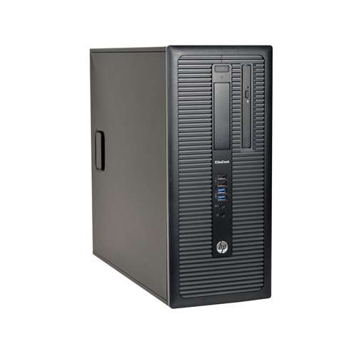 HP EliteDesk 800 G1 MT Desktop PC - Intel Core i7-4790 Quad-Core 3.6GHz CPU, 16GB DDR3, 128GB SSD 500GB HDD, 4x USB 3.0, DVDRW, DisplayPort, Windows 10 Pro 64-bit, 1 Year Warranty,