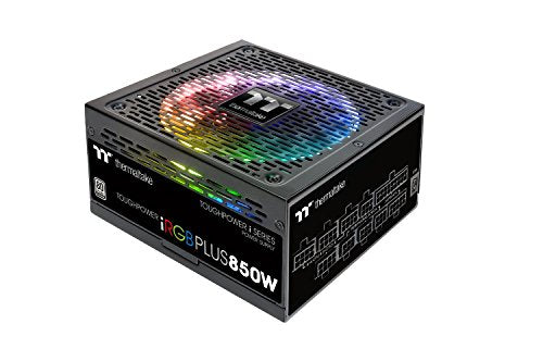 Thermaltake Toughpower iRGB Plus 850W 80+ Platinum Digital RGB LED Smart Zero Fan SLI/CrossFire Ready ATX12V v2.4 / SSI EPS v2.92 Power Supply 10 YR Warranty PS-TPI-0850F2FDPU-1