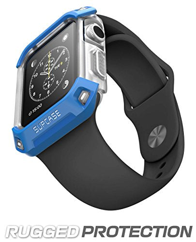 Apple Watch Case, SUPCASE Unicorn Beetle Series Premium Hybrid Protective Bumper Case for Apple Watch 38 mm 2015 Release [Not Compatible with 42 mm] (Frost/Blue)