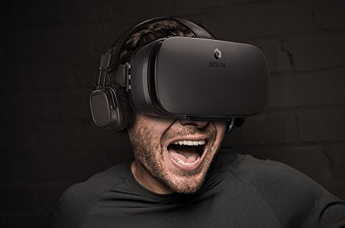 DESTEK V4 VR, 103°FOV, Eye Protected HD Virtual Reality Headset w/ Controller/Gamepad