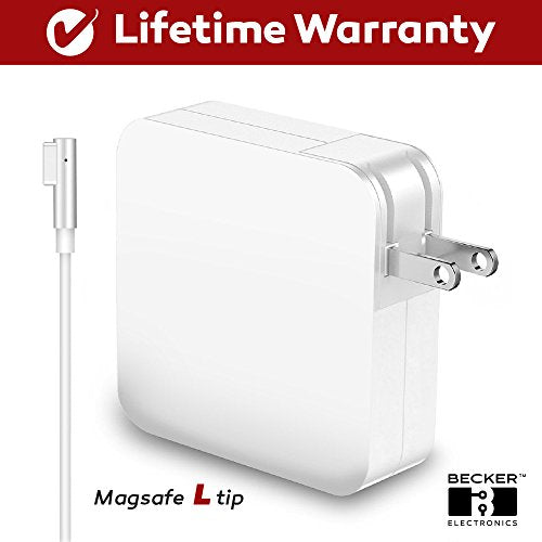 Macbook Pro Charger, 60W Power Adapter Magsafe 1 (L) Style Connector - BECKER - Replacement Charger Apple Mac Book Pro 11 inch / 13 inch / 15 inch / 17 inch (60W Mag1 Sa)