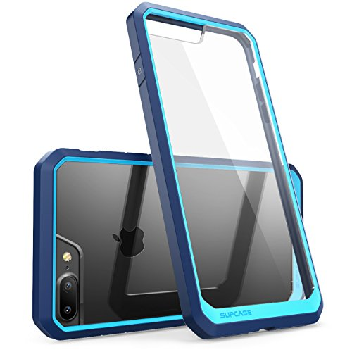 SUPCASE iPhone 7 Plus Case, iPhone 8 Plus Case, Unicorn Beetle Series Premium Hybrid Protective Frost Clear Case for Apple iPhone 7 Plus 2016 / iPhone 8 Plus 2017 (Blue)