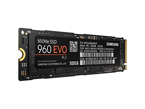 Samsung 960 EVO Series - 500GB NVMe - M.2 Internal SSD (MZ-V6E500BW)