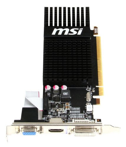 MSI AMD Radeon HD 6450 2GB DDR3 VGA/DVI/HDMI Low Profile PCI-Express Video Card R6450-2GD3H/LP