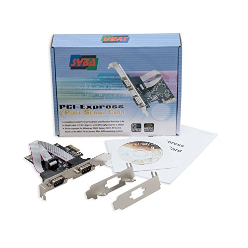 Syba Dual Port Serial DB9 RS232 PCIe X1 Card Components SD-PEX15022