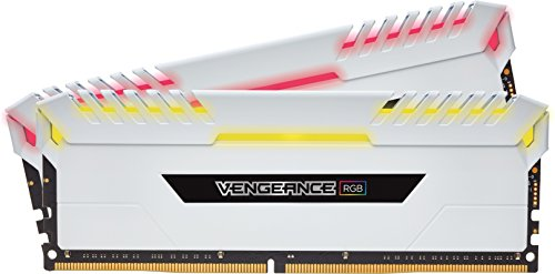 Corsair Vengeance RGB 16GB (2x8GB) DDR4 3200 (PC4-25600) C16 Desktop memory for Intel 100/200 - White PC memory CMR16GX4M2C3200C16W