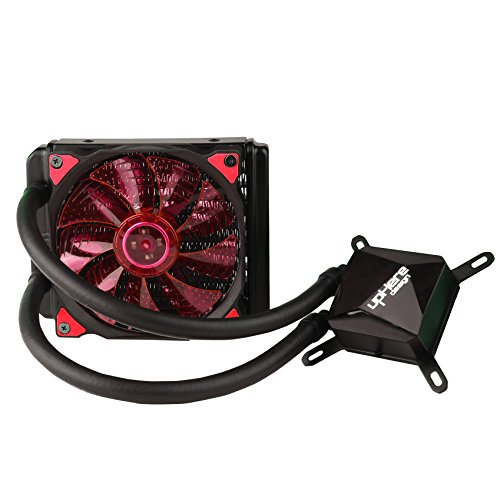 upHere Technology All-In-One High Performance Liquid CPU Cooler with Adjustable 120mm PWM Fan,Red LED