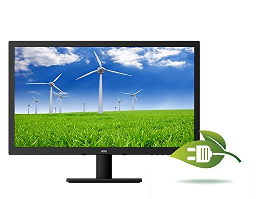 AOC e2775SJ 27-Inch Class LED Monitor, 1920x1080, 300sd/m2, 2ms, 50M:1, VGA,DVI,HDMI, Speakers, Earphone Out