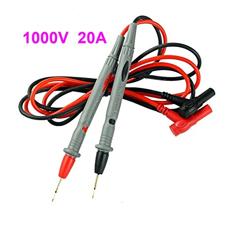 1000V 20A Universal Multimeter Probe Test Leads Needle Tip + PHONSUN Portable Cellphone Holder