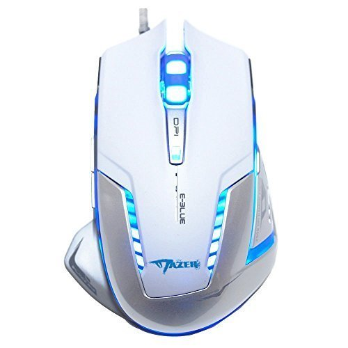 E-3lue Mazer EMS600WHAA Professional 2500 DPI Blue LED Optical USB Wired Gaming Mouse (White)