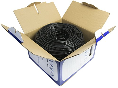New 1,000 ft bulk Cat5e Ethernet Cable / Wire UTP Pull Box 1,000ft Cat-5e Waterproof Outdoor / Direct Burial / Underground ~ VIVO (CABLE-V003)