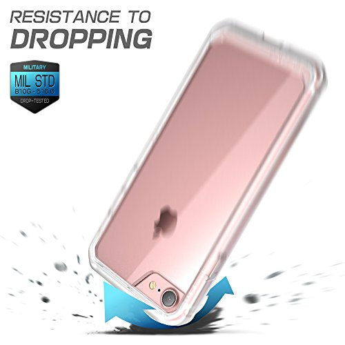 iPhone 8 Case, SUPCASE Unicorn Beetle Series Premium Hybrid Protective Frost Clear Case for Apple iPhone 7 2016 / iPhone 8 2017 (Frost/Clear)