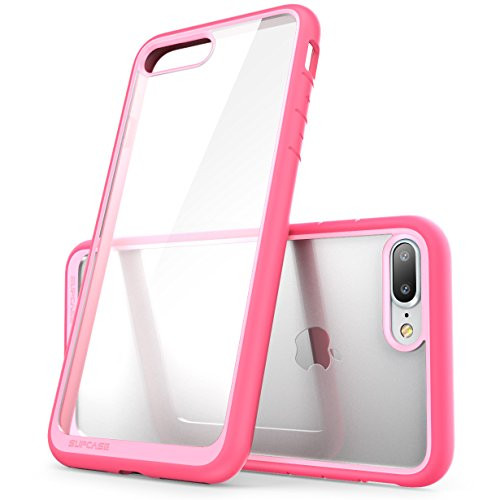 iPhone 8 Plus Case, SUPCASE Unicorn Beetle Style Premium Hybrid Protective Clear Bumper Case [Scratch Resistant] for Apple iPhone 7 Plus 2016 / iPhone 8 Plus 2017 Release - Pink