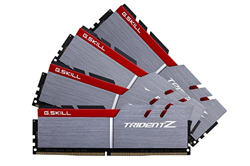 32GB G.Skill DDR4 Trident Z 4000Mhz PC4-32000 CL18 1.35V Quad Channel Kit (4x8GB) for Intel Z270 Model G.Skill-F4-4000C18Q-32GTZ