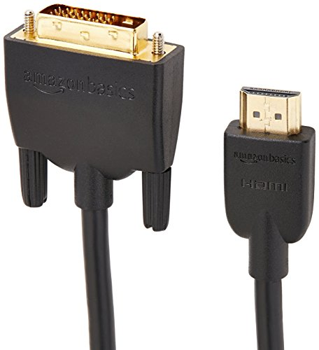 AmazonBasics HDMI to DVI Output Adapter Cable  (Latest Standard) - 6 Feet, 24-Pack