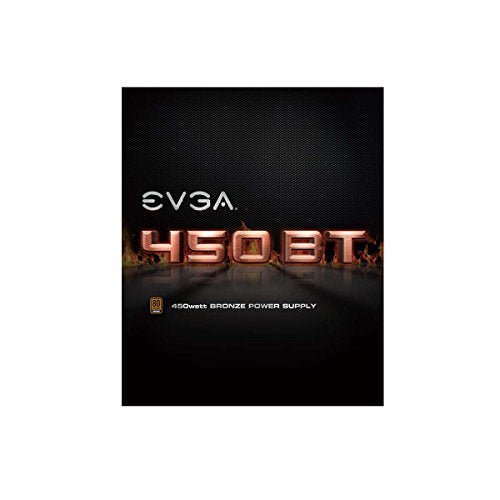 EVGA 450 BT, 80+ Bronze 450W, 3 Year Warranty, Power Supply 100-BT-0450-K1