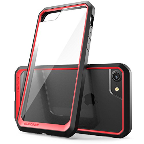 iPhone 7 Case, iPhone 8 Case, SUPCASE Unicorn Beetle Series Premium Hybrid Protective Frost Clear Case for Apple iPhone 7 2016 / iPhone 8 2017 (Red/Black)