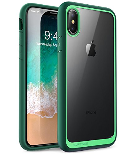 SUPCASE iPhone X Case, Unicorn Beetle Style Premium Hybrid Protective Clear Case for Apple iPhone X 2017 Release -Green