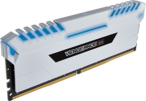 Corsair Vengeance RGB 16GB (2x8GB) DDR4 3600 (PC4-28800) C18 Desktop memory for Intel 100/200 - White PC memory CMR16GX4M2C3600C18W