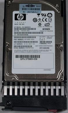 146GB SAS HP 10K Dual Port Drive w/ Tray 2.5 DG146BB976