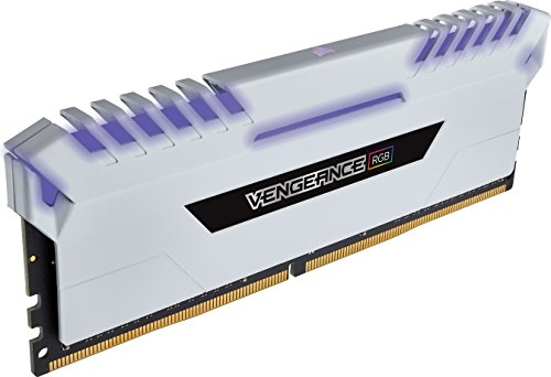 Corsair Vengeance RGB 32GB (4x8GB) DDR4 3200 (PC4-25600) C16 Desktop memory - White PC memory CMR32GX4M4C3200C16W