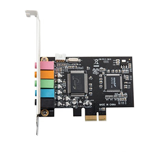 IO Crest 5.1 Channel PCIe X1 Sound Card Sound Cards SI-PEX63096