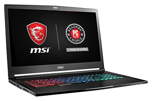 "MSI GS73VR STEALTH PRO-060 17.3"" Gaming Laptop i7-7700HQ GTX 1070 8G 16GB 256GB SSD + 2TB"