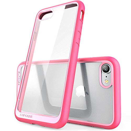 iPhone 8 Case, SUPCASE Unicorn Beetle Style Premium Hybrid Protective Clear Bumper Case [Scratch Resistant] for Apple iPhone 7 2016 / iPhone 8 2017 Release-Pink