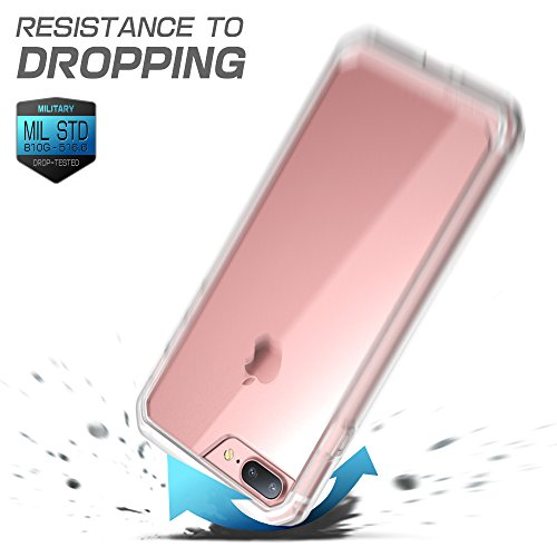 SUPCASE iPhone 7 Plus Case, iPhone 8 Plus Case, Unicorn Beetle Series Premium Hybrid Protective Frost Clear Case for Apple iPhone 7 Plus 2016 / iPhone 8 Plus 2017 (Clear/Frost)