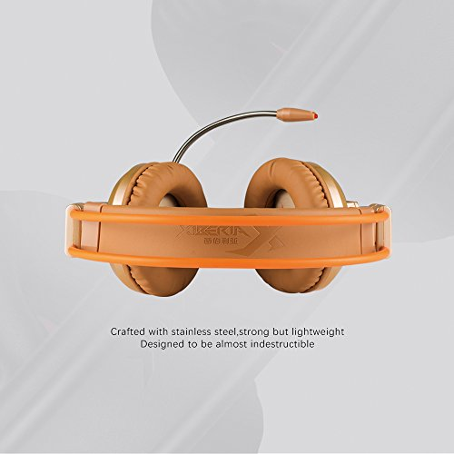 XIBERIA V10 PC Gaming Headphones Over-ear USB Headset with Microphone Volume Control - Gold