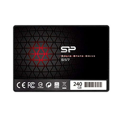 Silicon Power/Marvell Controller 240GB S57 (SLC Cache Boost with Read up to 500 MB/s) SATA III Internal Solid State Drive- Free-download SSD Health Monitor Tool Included