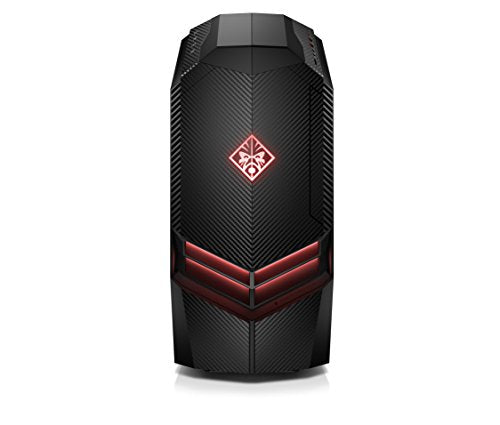 OMEN by HP Gaming Desktop Computer, AMD Ryzen 7 1800X, NVIDIA GeForce GTX 1080, 16GB RAM, 2TB hard drive, 512GB SSD, Windows 10 (880-040, Black)