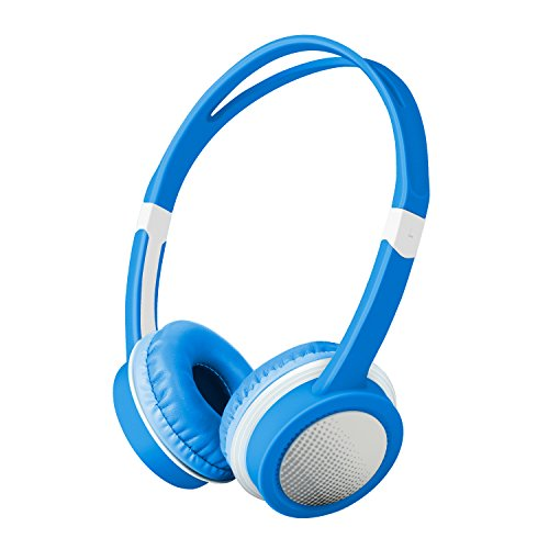 Kids Headphones, Comfortable and Adjustable Wired Over Ear Headphones with Volume Limiting for Boys and Girls-Blue