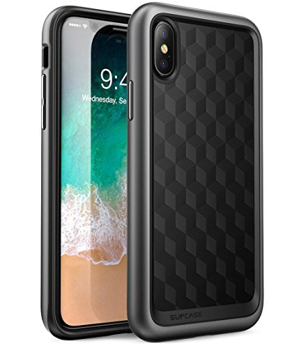 SUPCASE iPhone X Case, Unicorn Beetle Style Premium Hybrid Protective Clear Case for Apple iPhone X 2017 Release (Metallic Gray)
