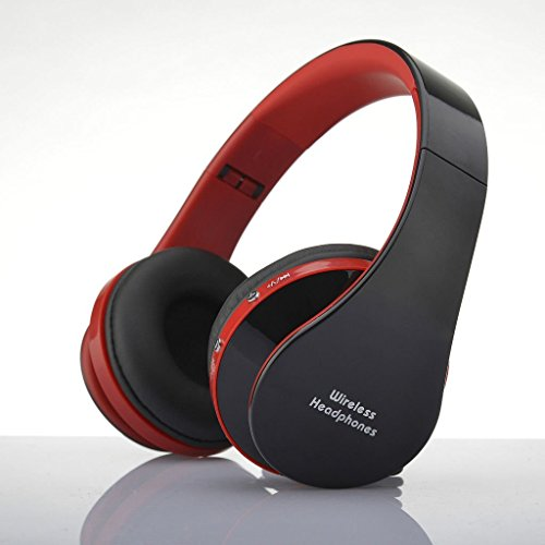 SHANGFENG Foldable Wireless Bluetooth Headset Stereo Headphone Earphone For Smart Phones(Black&Red)