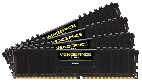 Corsair Vengeance LPX 64GB (4x16GB) DDR4 3466 (PC4-27700) C16 with Airflow, Black CMK64GX4M4B3466C16