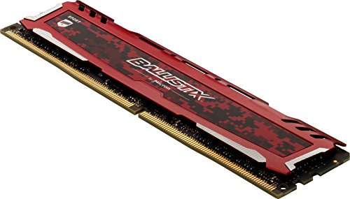 Ballistix Sport LT 64GB Kit (16GBx4) DDR4 2666 MT/s (PC4-21300) DR x8 DIMM 288-Pin - BLS4K16G4D26BFSE (Red)