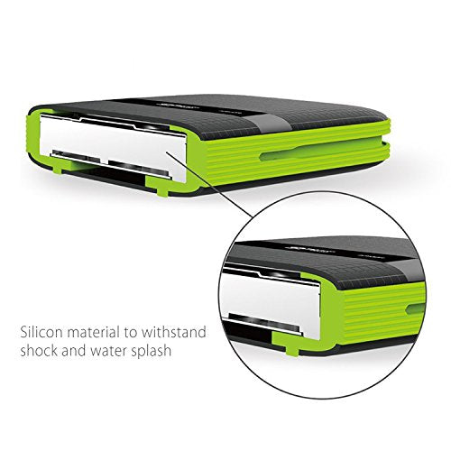 Silicon Power 1TB Type C External Hard Drive USB 3.0 Rugged Armor A60 Shockproof / Water-Resistant, Dual Cables Included (Type C to Type A & Type A to Type A)