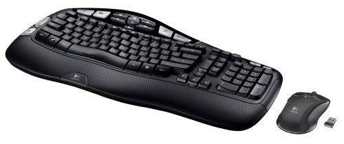 Logitech 920-002555 MK550 Wireless Wave Keyboard and Mouse Combo — Includes Keyboard and Mouse, Long Battery Life, Ergonomic Wave Design