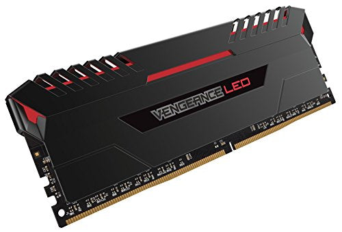 Corsair Vengeance 64GB (4x16GB) DDR4 3000 C15 for DDR4 Systems, Red LED (CMU64GX4M4C3000C15R)