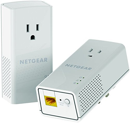 NETGEAR PowerLINE 1200 Mbps, 1 Gigabit Port with Pass-Through, Extra Outlet (PLP1200-100PAS)