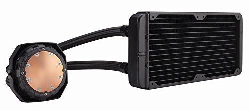 Corsair CW-9060025-WW  Hydro Series, H100i v2, 240mm Radiator, Dual 120mm PWM fans, Advanced RGB Lighting and Fan control with software, Liquid CPU Cooler