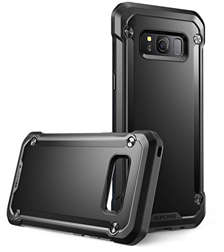 Samsung Galaxy S8 Case, SUPCASE Unicorn Beetle Series Premium Hybrid Protective Frost Clear Case for Galaxy S8 2017 Release, Retail Package (Black/Black)