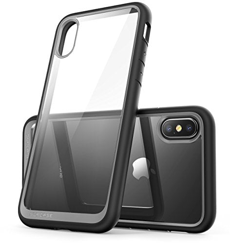 SUPCASE iPhone X Case, Unicorn Beetle Style Premium Hybrid Protective Clear Case for Apple iPhone X 2017 Release - Black