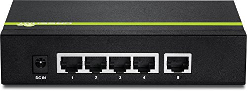 TRENDnet 5-Port Gigabit PoE+ Switch, 31 W PoE Budget, 10 Gbps Switching Capacity, Plug & Play, Full & Half Duplex, TPE-TG50g