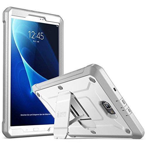 Galaxy Tab A 10.1 Case, SUPCASE [Heavy Duty] [Unicorn Beetle PRO Series] Full-body Rugged Protective Case with Built-in Screen Protector for Samsung Galaxy Tab A 10.1 inch (2016) (White/Gray)