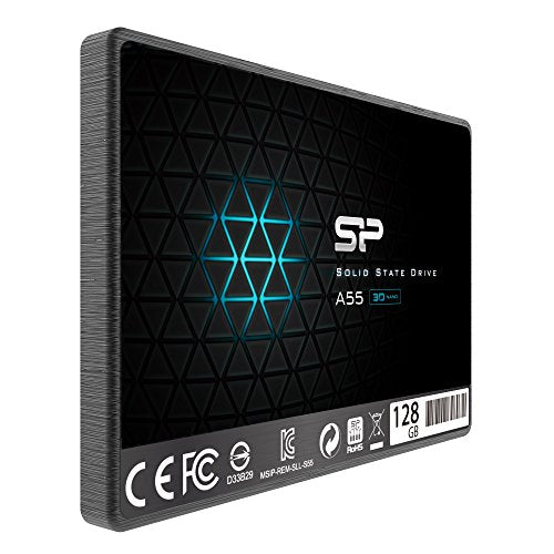 "Silicon Power 128GB SSD 3D NAND With R/W Up To 550/420MB/s A55 SLC Cache Performance Boost SATA III 2.5"" 7mm (0.28"") Internal Solid State Drive  (SP128GBSS3A55S25)"